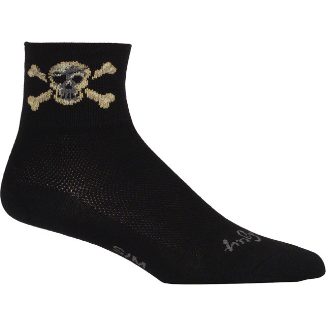 SockGuy Pirate Socks - Large/X Large (Black)