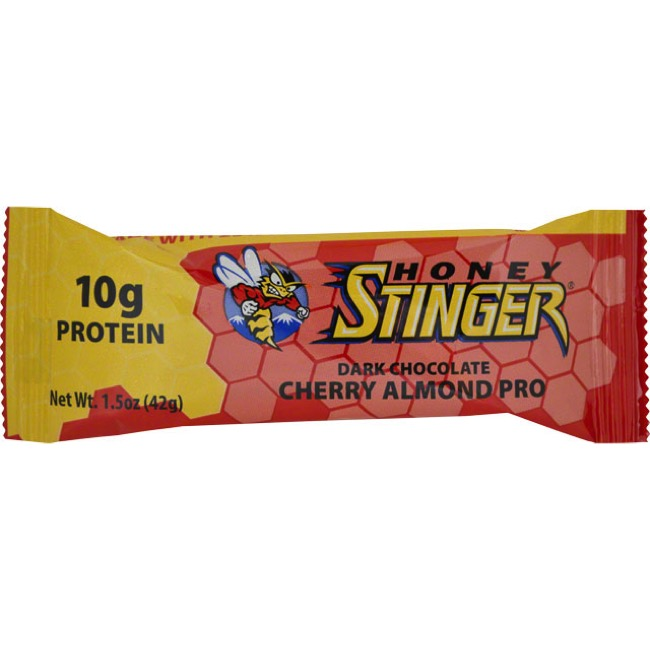 Honey Stinger 10g Protein Bar - Dark Chocolate Cherry Almond (Box of 15)