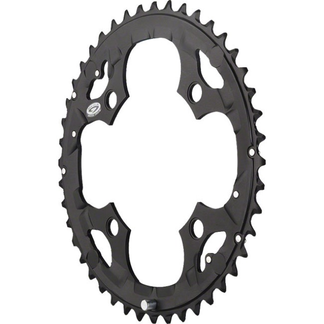 Shimano Deore M532/533/590 Chainrings - 104mm x 44t (Black)