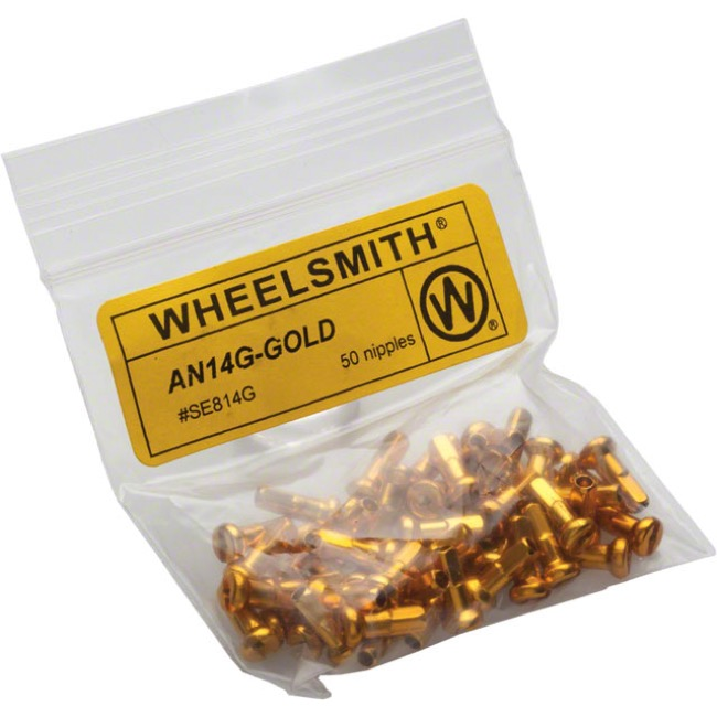 Wheelsmith Nipples - Gold Alloy 12mm