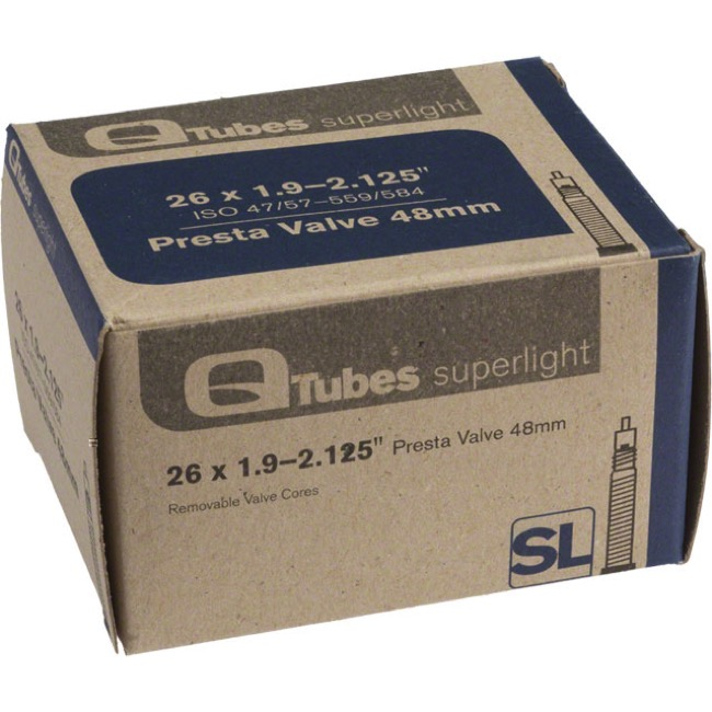 "Q Tubes Super Light Presta Tubes - 26"" - 26"" x 1.9-2.125"" 48mm PV"