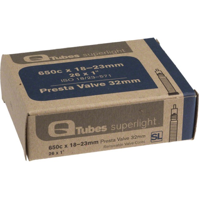 Q Tubes Super Light Presta Tubes - 650c - 650c x 18-23 (32mm PV)