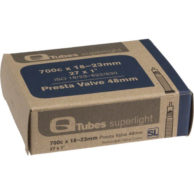 Q Tubes Super Light Presta Tubes - 700c - 700 x 18-23c (48mm PV)
