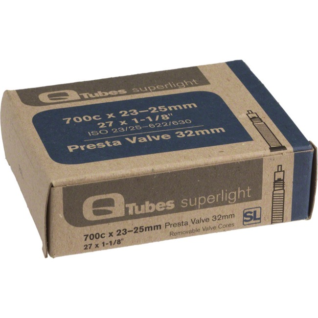 Q Tubes Super Light Presta Tubes - 700c - 700 x 23-25c (32mm PV)