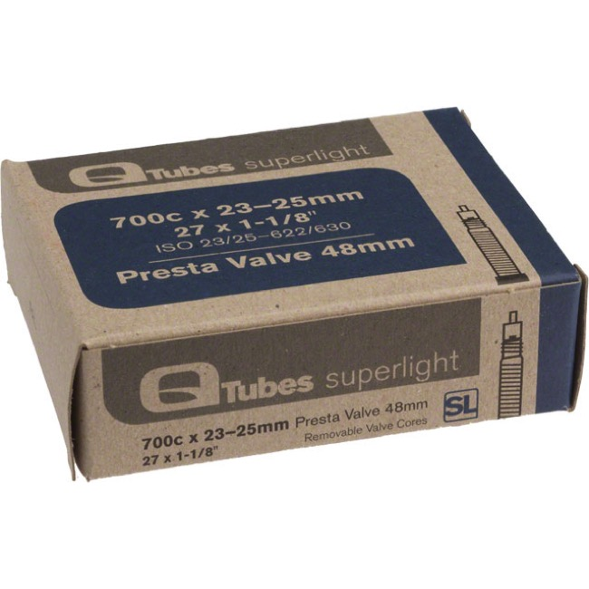 Q Tubes Super Light Presta Tubes - 700c - 700 x 23-25c (48mm PV)