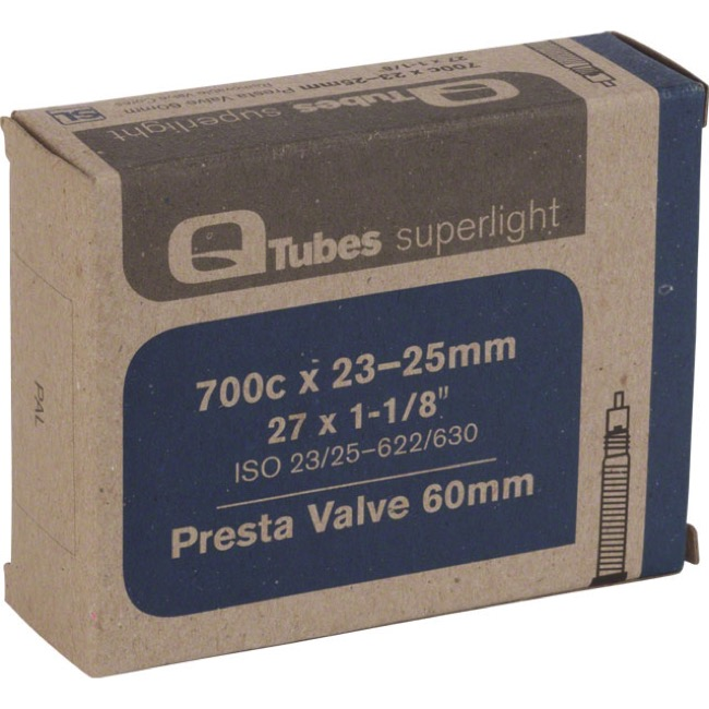 Q Tubes Super Light Presta Tubes - 700c - 700 x 23-25c (60mm PV)