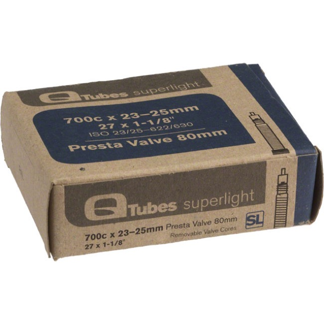Q Tubes Super Light Presta Tubes - 700c - 700 x 23-25c (80mm PV)