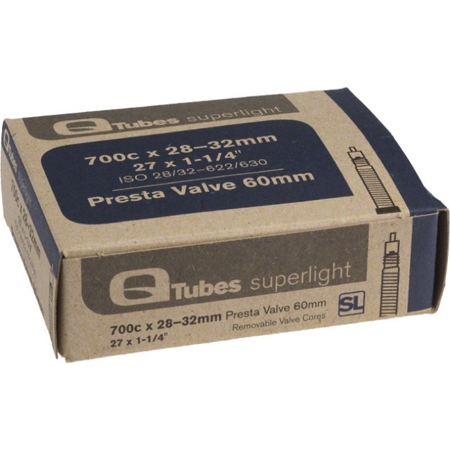 Q Tubes Super Light Presta Tubes - 700c - 700 x 28-32c (60mm PV)
