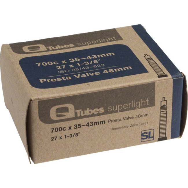Q Tubes Super Light Presta Tubes - 700c - 700 x 35-43c (48mm PV)