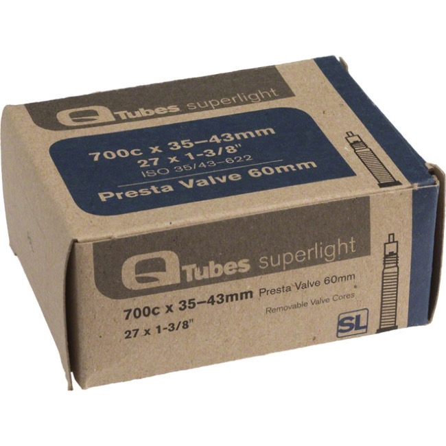 Q Tubes Super Light Presta Tubes - 700c - 700 x 35-43c (60mm PV)