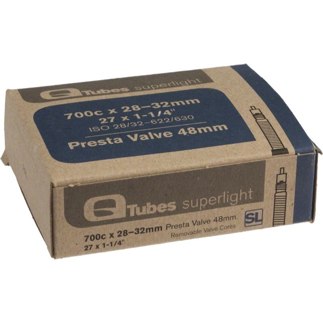 Q Tubes Super Light Presta Tubes - 700c - 700 x 28-32c (48mm PV)