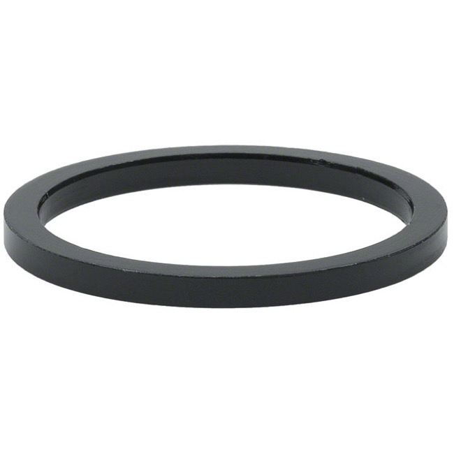 "Wheels Manufacturing Alloy Headset Spacers - 1 1/8"" x 2.5mm Bag of 5 (Black)"
