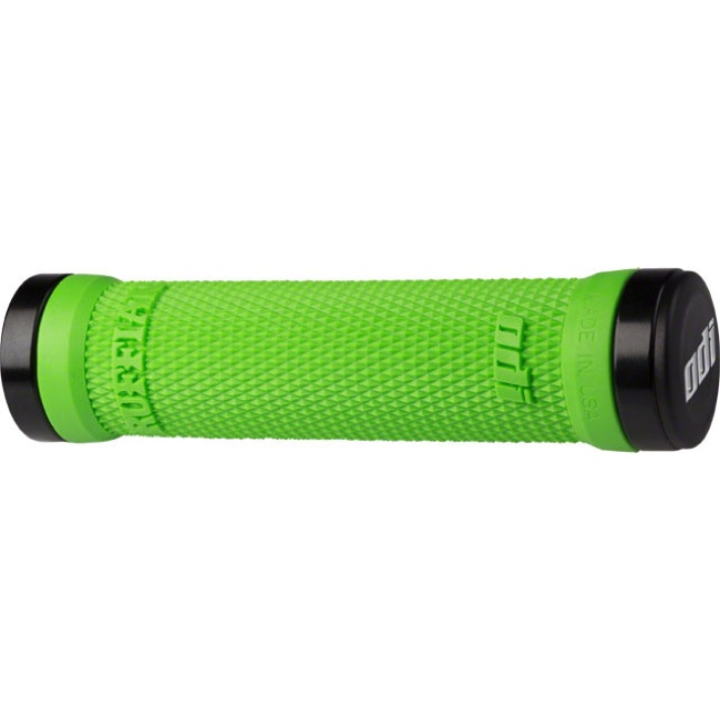 ODI Ruffian Lock-On Grips - Bonus Pack (Lime Green Grips/Black Clamps)
