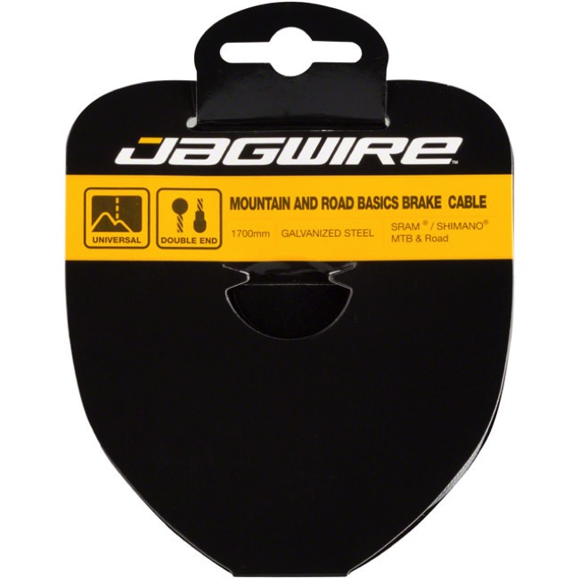 "Jagwire Basics Galvanized Brake Cable - 1.6 x 65"" (Road and Mountain ends)"