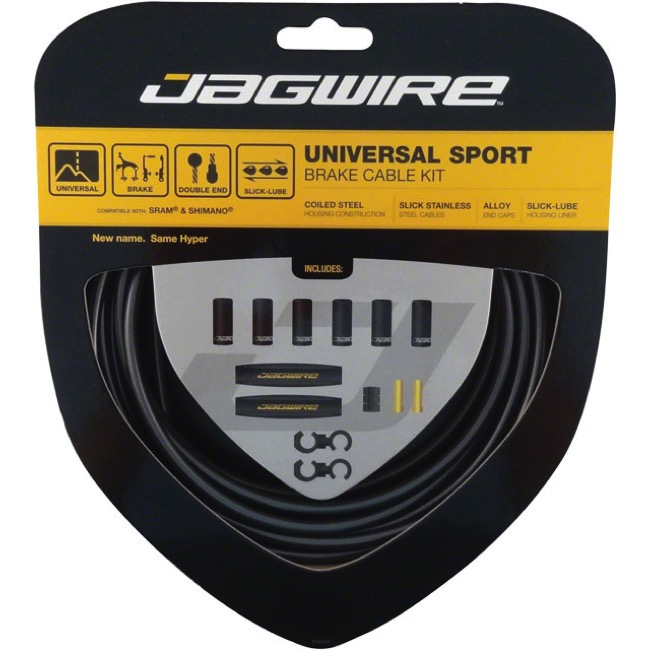 Jagwire Universal Sport Brake Cable/Housing Set - Ice Gray