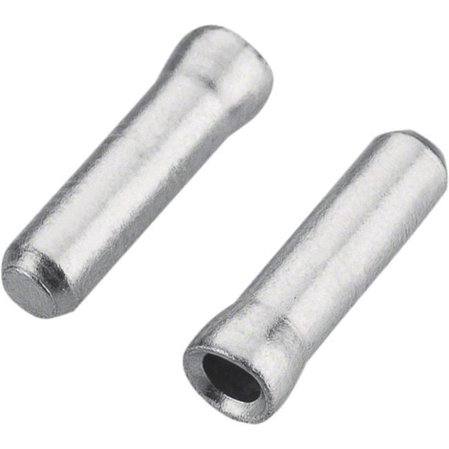 10 Pack Cable Tips - Jagwire 1.2mm (Silver) 10/Bag