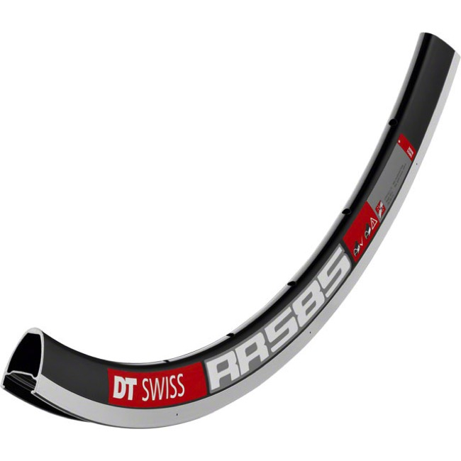 DT Swiss RR 585 700c Rims - 700c x 28 Hole (Black)