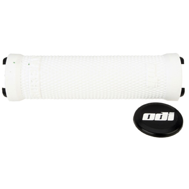 ODI Ruffian Lock-On Grips - Grips Only 130mm (White)