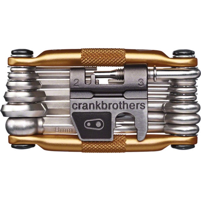 Crank Brothers M-19 Multi Tools w/Flask - Gold/Silver