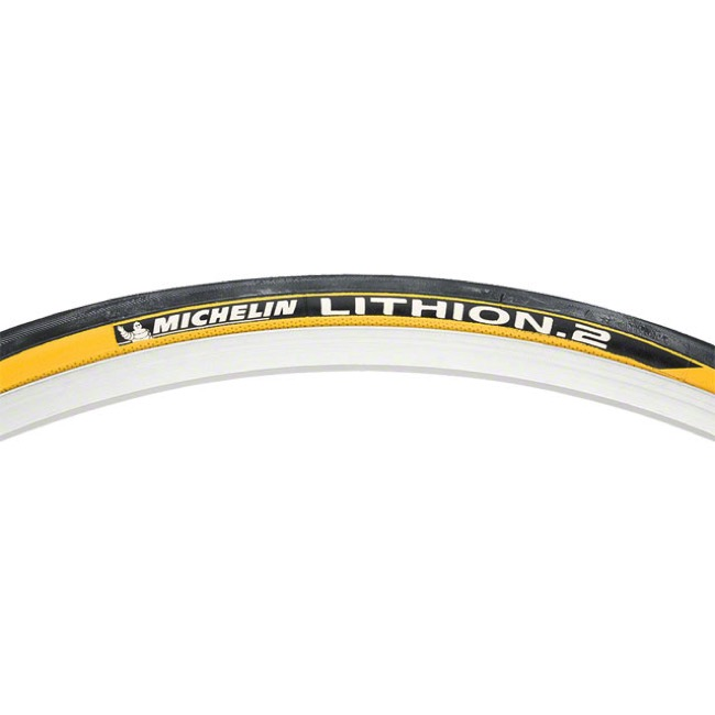Michelin Lithion 2 700c Tires - 700 x 23c (Black/Yellow)