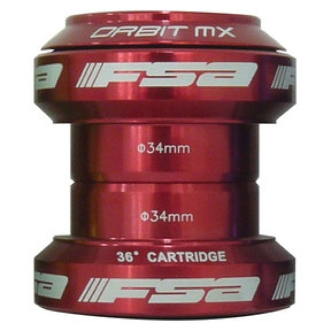 "FSA Orbit MX Headset - 1 1/8"" Threadless (Red)"