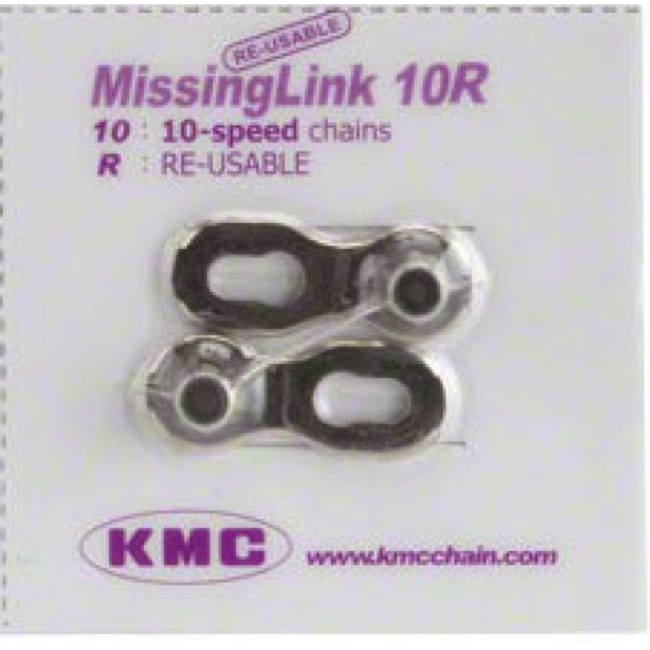 KMC Missing Link Connectors - MissingLink-10 10sp Chain, KMC/Shimano/Sram, Re-usable (Each)