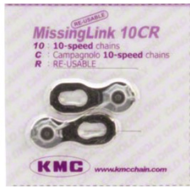 KMC Missing Link Connectors - MissingLink-10CR 10sp Chain, Campy Only, Re-usable (Each)