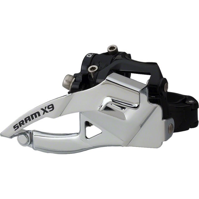 Sram X9 Front Derailleur - 10 Speed - Low Mount (TS), Top Pull, 31.8/34.9mm Clamp (2x10)
