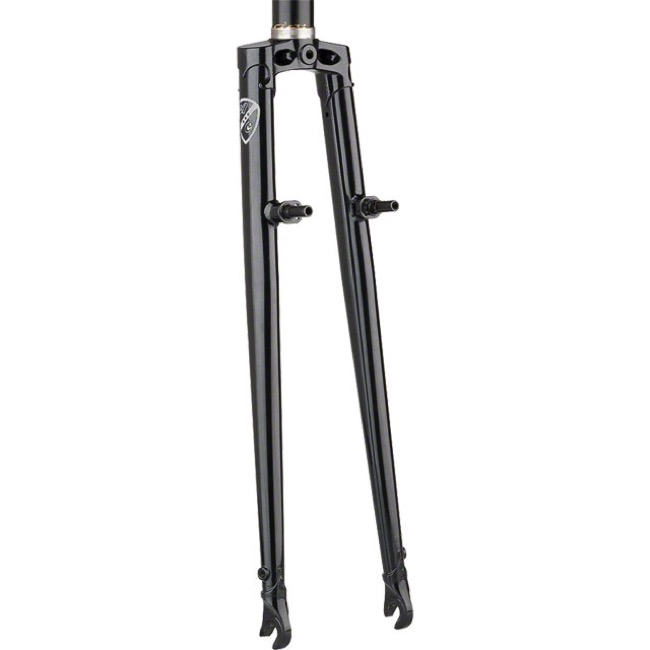 "All-City Nature Boy Straight Blade Cross Fork - 1 1/8"" Threadless (Black)"