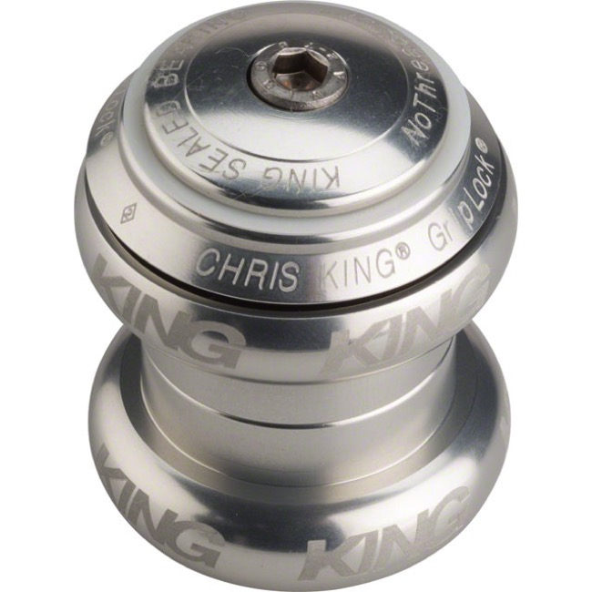 "Chris King Griplock No Threadset - Silver 1 1/8"" (Sotto Voce Logo)"