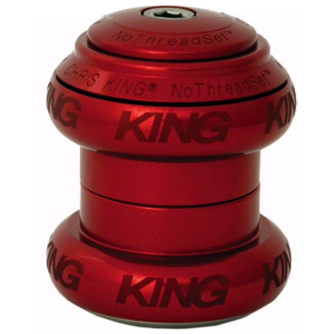 "Chris King Griplock No Threadset - Red 1 1/8"" (Sotto Voce Logo)"