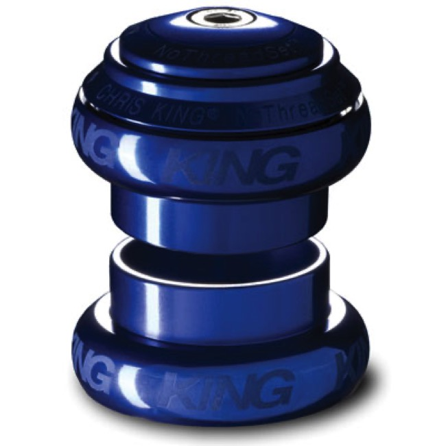 "Chris King Griplock No Threadset - Navy Blue 1 1/8"" (Sotto Voce Logo)"