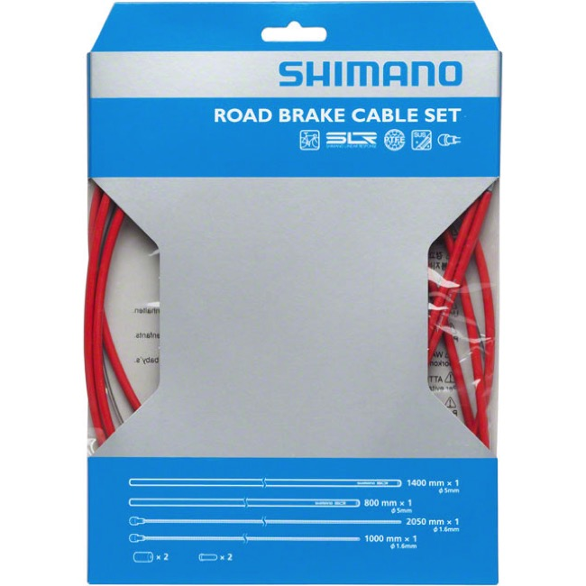 Shimano Road PTFE Brake Cable Set - PTFE Coated Set (Red)