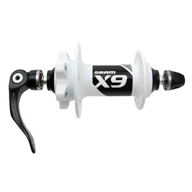 Sram X.9 Front Disc Hub - 9mm Quick Release - 32 Hole, Quick Release (White)