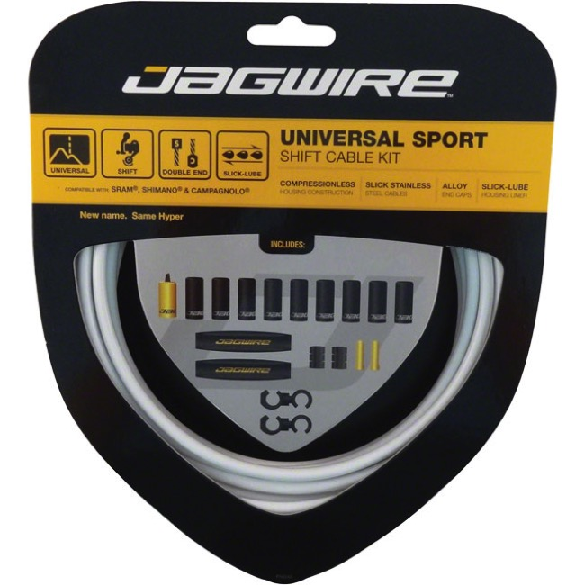 Jagwire Universal Sport Derailleur Cable/Housing - White