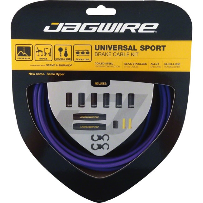 Jagwire Universal Sport Brake Cable/Housing Set - Purple