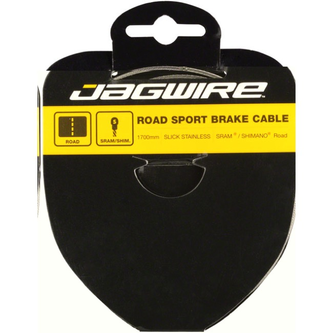 Jagwire Sport Slick Stainless Brake Cables - Shimano Extra Long 3500mm (Road Only)