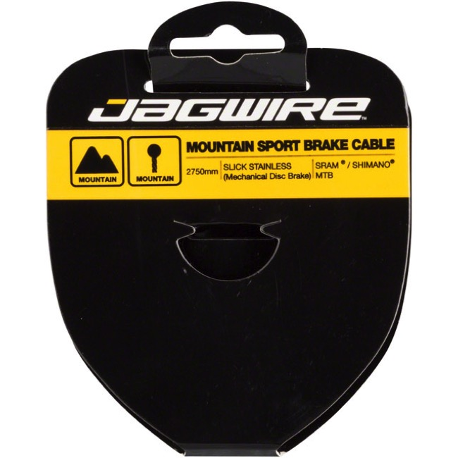 Jagwire Sport Slick Stainless Brake Cables - Shimano Extra Long 3500mm (Mountain Only)