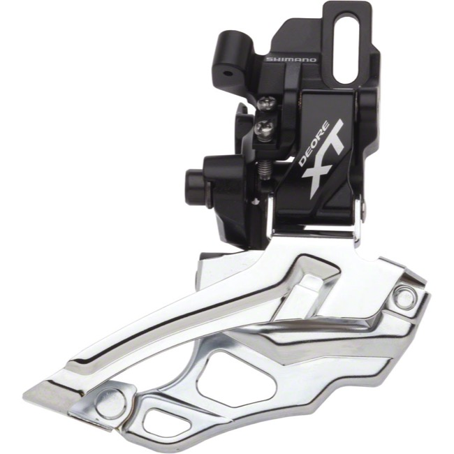 Shimano FD-M786 XT Direct Mount Front Derailleur - 2 x 10 Speed - Direct Mount, Dual Pull (Black)