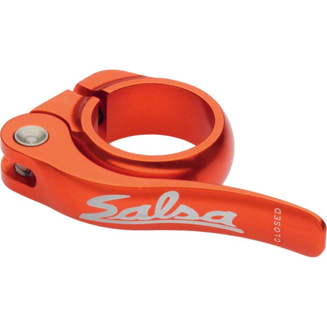 Salsa Flip Lock Seatpost Clamp - Orange - 30.0mm (Orange)