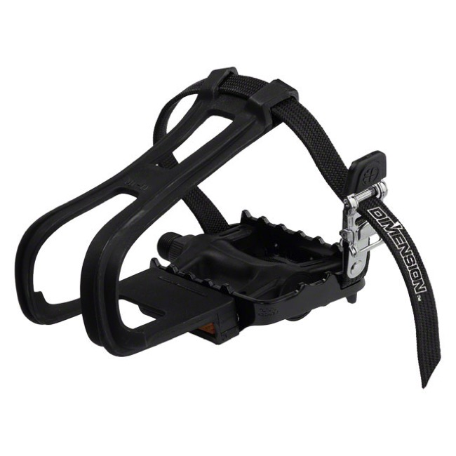 Dimension Combo Sport Pedal/Toeclip Set  - Pair (Black)