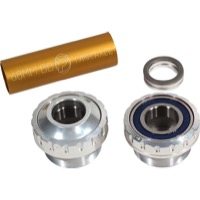 Profile Racing Outboard Bearing Bottom Bracket - Euro BB Set, Fits 19mm spindle (Silver)