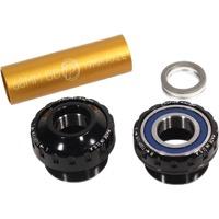 Profile Racing Outboard Bearing Bottom Bracket - Euro BB Set, Fits 19mm spindle (Black)