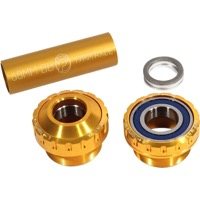 Profile Racing Outboard Bearing Bottom Bracket - Euro BB Set, Fits 19mm spindle (Gold)