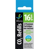 Genuine Innovations CO2 Refill Cartridges - 16g 2-Pack (Non-Threaded)