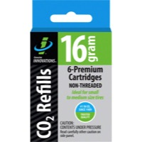 Genuine Innovations CO2 Refill Cartridges - 16g 6-Pack (Non-Threaded)