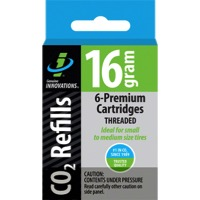 Genuine Innovations CO2 Refill Cartridges - 16g 6-Pack (Threaded)