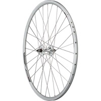 Quality Formula Track/Alex DA22 Front Wheels - 700c - 700c, 9x100mm Bolt On, Silver (Front Only)