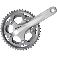 Shimano FC-CX50 Cyclocross Double Crankset - 10 Speed - 170mm x 36/46t (Silver)
