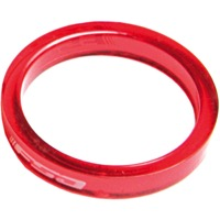 "FSA PolyCarbonate Headset Spacers - 1 1/8"" x 5mm Each (Red)"